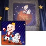 Criação de caricatura em comemoração de 1 ano do Roberto caracterizado como o personagem Pequeno Príncipe.