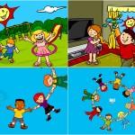 Criação de ilustração e animações para abertura de multimídia infantil - Cliente: Editora Pearson, parceria Estação Gráfica