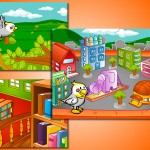 Criação de ilustração de cenários e animações para multimídia infantil - Cliente: Editora Pearson