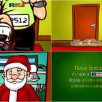 Criação de animação para cartão de Natal - Cliente: Run & Fun, parceria Estação Gráfica