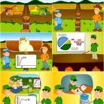 Criação de animação para apresentação em evento - Cliente: Monsanto, parceria Estação Gráfica