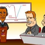 Criação de Animação com Caricaturas de Atores e Presidente Obama