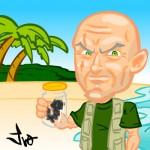 Criação de caricatura de personagem do seriado Lost