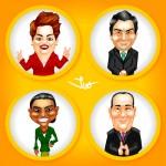 Criação de Caricaturas para Aplicativo - Presidente 2014