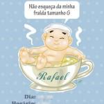 Criação de caricatura para convite de chá de bebê