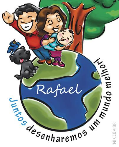 Criação de ilustração aplicada em tag para lembrança de maternidade (lápis sustentável)