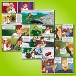 Criação de história em quadrinhos de 16 páginas - Cliente: Editora Pearson