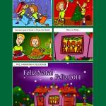 Criação de HQ para cartão de Natal - Cliente: Run & Fun, parceria Estação Gráfica