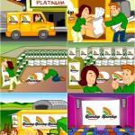 Criação de ilustração para orientação de montagem de evento - Cliente: Monsanto