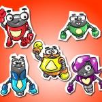 Criação de personagens para cartilha escolar - Cliente: Editora Pearson