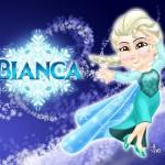 Caricatura Bianca - Princesa Elsa
